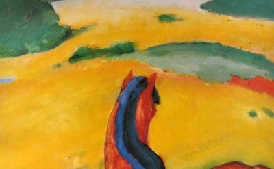 Franz Marc, Horse in the Landscape, 1910