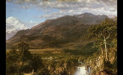 (detail) Frederic Edwin Church, Heart of the Andes, 1859, oil on canvas, 66 1.8