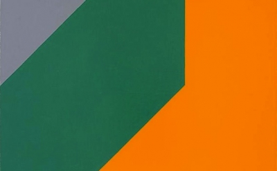 Frederick Hammersley, Me and thee, oil on linen, detail
