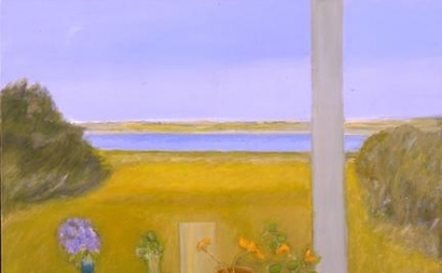 Jane Freilicher, Still Life Before a Window, 2007, oil on linen, 32 x 40 inches