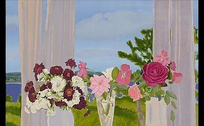 Jane Freilicher, Roses and Chrysanthemums 2014 (courtesy of Tibor de Nagy Galler