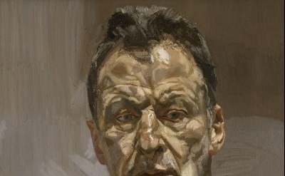 (detail) Lucian Freud, Reflection (Self-Portrait), 1985