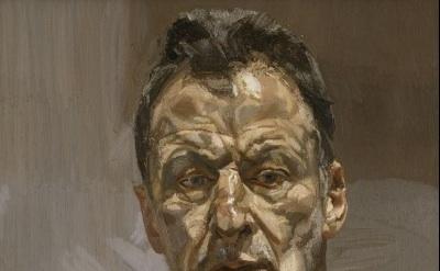 (detail) Lucian Freud, Reflection (Self-Portrait), 1985