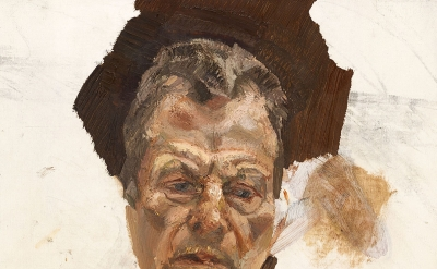 (detail) Lucian Freud, Unfinished self-portrait, c. 1980 (Estate of Lucian Freud/National Portrait Gallery, London/The Lucian Freud Archive)