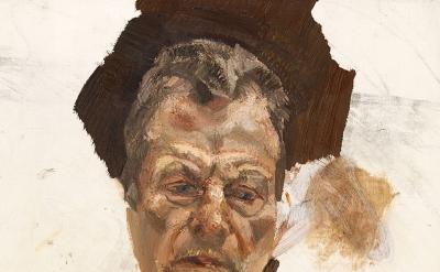 (detail) Lucian Freud, Unfinished self-portrait, c. 1980 (Estate of Lucian Freud/National Portrait Gallery, London/The Lucian Freud Archive)