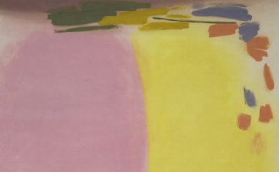 Friedel Dzubas, Pink Orange Yellow, c. 1965, Acrylic on canvas, 101 x 103 inches
