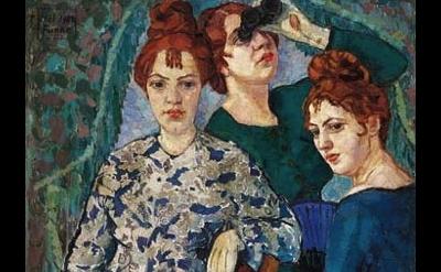 (detail) Helene Funke, In the Loge, 1904-07, 99 x 90 cm (Lentos Kunstmuseum)