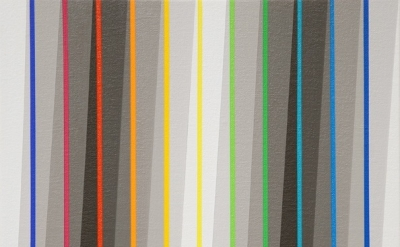 (detail) Gabriele Evertz, Seven Grays + One Color Sequence, 2011, Acrylic on can