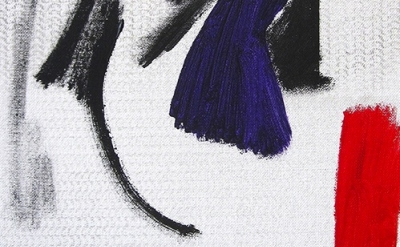 (detail) Ted Gahl, Content, 2012, acrylic and enamel on canvas, 14 x 11 inches (