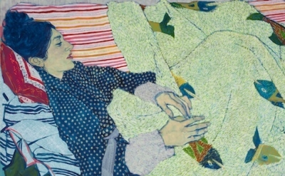 (detail) Painting by Hope Gangloff (courtesy of the artist and Susan Inglett Gal