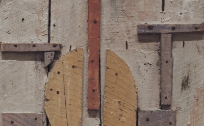 (detail) Joaquín Torres-García, Construction with Curved Forms, 1931, oil and na