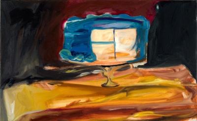 Ashley Garrett, Seconds, 2014, oil on canvas, 20 x 16 inches (courtesy of the ar