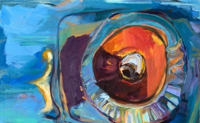 Ashley Garrett, Phaethon, 2014, oil on wood panel, 11 x 14 inches  (courtesy of