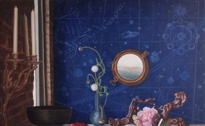John Gordon Gauld, Northern Gate of the Sun, 2014, egg tempera on panel, 22 x 30