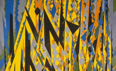 (detail) William Gear, Broken Yellow, 1967 (Copyright the Artist's Estate. Scott