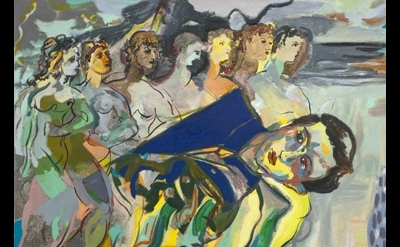 Jackie Gendel, The Carried Man, 2012, oil on canvas, 30 x 40 inches (courtesy of