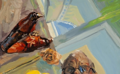 (detail) George Nick, Mirror, Raven, Rose, Lemon and I, 20 X 20 inches, 2011