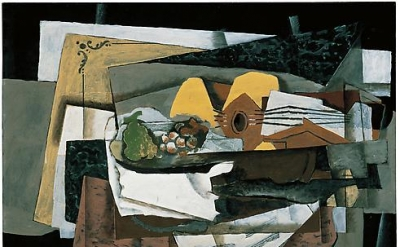 Georges Braque, The Pantry, 1920, Oil on canvas, 31 7/8 x 39 3/8 inches, 81 x 10