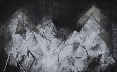 Celia Gerard, Madrid II, 2013, mixed media on handmade watercolor paper, 22 x 30