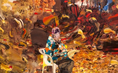 (detail) Ghenie, Charles Dawin at the age of 75, 2014 (courtesy of Pace Gallery
