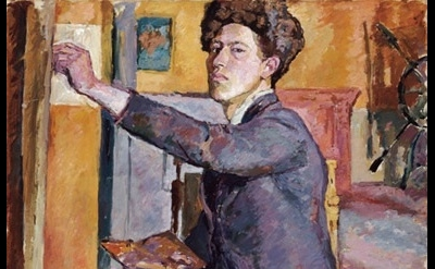 Alberto Giacometti, Self-portrait, 1921, detail