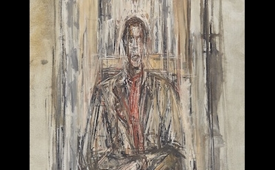 (detail) Alberto Giacometti, Diego Seated, 1948, oil on canvas (©2017 Alberto Giacometti Foundation, ACS, and DACS/Sainsbury Centre for the Visual Arts, Norwich)