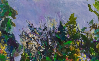 (detail) Allison Gildersleeve, Squall, 2011, oil and alkyd on canvas, 66 x 72 in