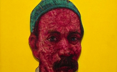 (detail) Gregory Gillespie, Self Portrait with Yellow Background, 1998-1999 (Cou