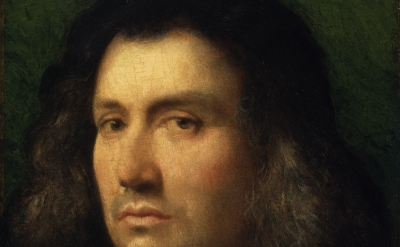 (detail) Giorgione, Portrait of a Man ('Terris Portrait'), 1506, oil on panel, 3