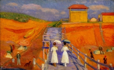 William Glackens, Cape Cod Pier 1908 (Museum of Art, Fort Lauderdale, Nova South