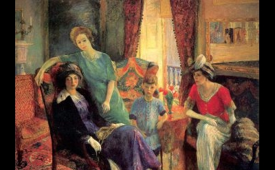 William Glackens, Family Group, 1910/11, oil on canvas, 71-15/16 x 84 inches (Na