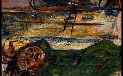 (detail) painting by Judy Glantzman (courtesy of the artist and Betty Cuningham