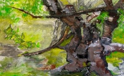 Tom Goldenberg, Italian Rhapsody, 2012, oil and charcoal on linen, 78 x 96 inche