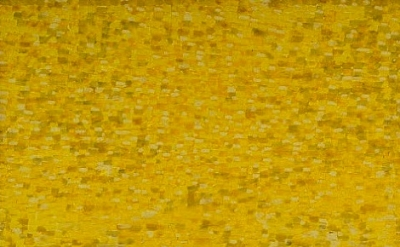 (detail) Shirley Goldfarb, Yellow painting #7, 1968, oil on canvas, 77 x77 inche