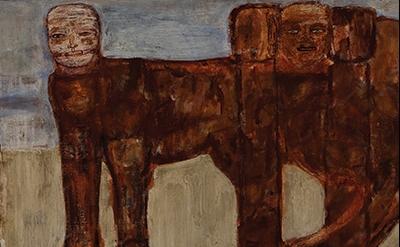 Leon Golub, The Ischian Sphinx 1956 (Collection of Ulrich and Harriet Meyer Art