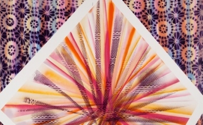 (detail) Tamara Gonzales, Ultra-powerful Gamma-ray Burst, 2011, spray paint on c