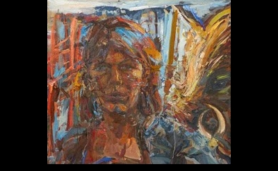 Catherine Goodman, Self-Portrait - The Artist, oil on canvas (courtesy of the ar