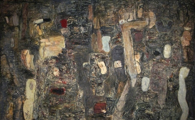 Brenda Goodman, Breakthrough, 1985, oil on canvas, 60 x 84 inches (courtesy of t
