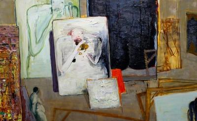 Brenda Goodman, Self Portrait 20, 2005, diptych, oil on wood (photo: Sarah Rose