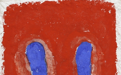 (detail) Ron Gorchov, Brother, 2013, watercolor on handmade paper, 14 1/2 × 12 i