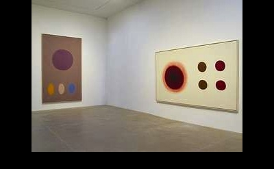 nstallation view of Adolph Gottlieb: Gravity, Suspension, Motion: Paintings 1954