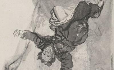 (detail) Francisco Goya, Nightmare 1819-1823 (Musée des Beaux-Arts, Marseille)