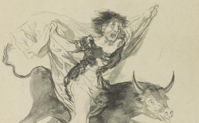 Francisco Goya, Pesadilla (Nightmare), ca. 1816—20 black ink and wash, 10 3/8 x