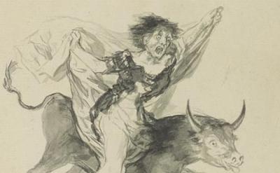 Francisco Goya, Pesadilla (Nightmare), ca. 1816—20 black ink and wash, 10 3/8 x