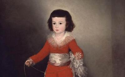 (detail) Francisco de Goya y Lucientes, Manuel Osorio Manrique de Zuñiga (1784–1