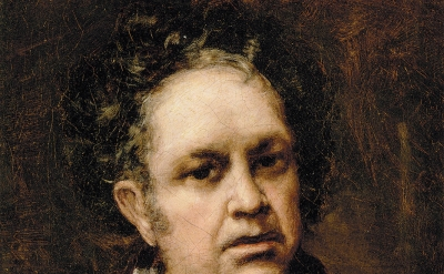 (detail) Francisco Goya, Self-Portrait, 1815 (Museo Nacional del Prado, Madrid)