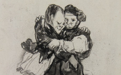 "(detail) Goya, ""Visiones,"" Album D, c.1819-23 (Courtauld Gallery)"