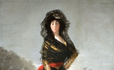 (detail) Francisco de Goya, The Duchess of Alba, 1797 (© Courtesy of The Hispani