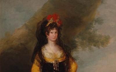 (detail) Francisco José de Goya y Lucientes, The Countess of Fernán Núñez, 1803