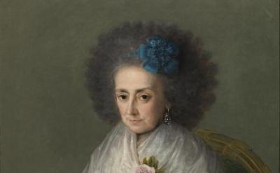 (detail) Goya, María Antonia Gonzaga, Marquesa Viuda de Villafranca, 1795 (Prado